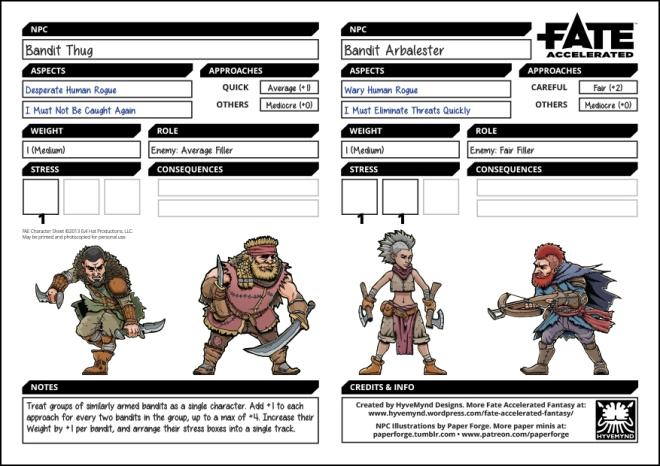 Monday Monsters: Human Bandits – Fantastic Fate Resources