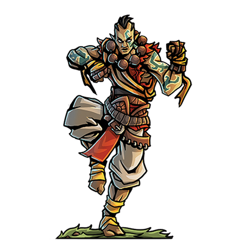 Wednesday Warriors Elf Monk Fantastic Fate Resources